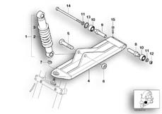Goto diagram: BMW Classic Motorrad Modell C1 (0191)( ECE ), Category 31.48 Spring strut, front, trailing arm :: Diagram: 31_0565