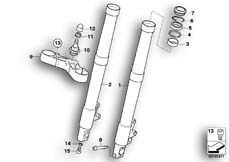 Goto diagram: BMW Classic Motorrad Modell R 1200 S (0366,0396)( ECE ), Category 31.42 FORK SLIDER/LOWER FORK BRIDGE :: Diagram: 31_0685