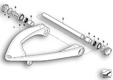 Goto diagram: BMW Classic Motorrad Modell R 900 RT 05 SF (0367,0387)( ECE ), Category 31.42 Trailing arm :: Diagram: 31_0687