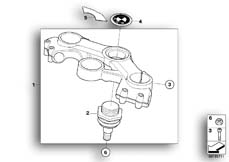 Goto diagram: BMW Classic Motorrad Modell R 1200 S (0366,0396)( ECE ), Category 31.42 Upper fork cross brace :: Diagram: 31_0782