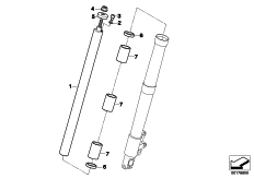 Goto diagram: BMW Classic Motorbike Model R 1200 RT 10 (0430,0440)( USA ), Category 31.42 Stanchion, stanchion diameter 41mm :: Diagram: 31_0945