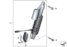 Goto diagram: BMW Classic Motorrad Modell R 1200 GS 17 (0A51, 0A61)( USA ), Category 31.48 Spring strut ESA front :: Diagram: 31_1031