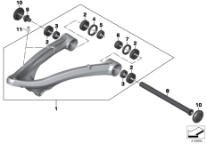 Goto diagram: BMW Classic Motorrad Modell R 1200 RT (0A03, 0A13)( USA ), Category 31.42 Trailing arm :: Diagram: 31_1034