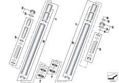 Goto diagram: BMW Classic Motorrad Modell R 1200 R (0A04, 0A14)( ECE ), Category 31.42 STANCHION :: Diagram: 31_1187