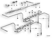 Goto diagram: BMW Classic Motorrad Modell R 80 G/S( ECE ), Category 32.20 Bowden cable :: Diagram: 32_0740