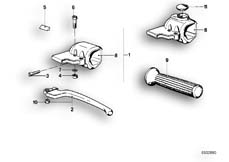 Goto diagram: BMW Classic Motorbike Model R65( USA ), Category 32.10 HANDLE UNIT LEFT :: Diagram: 32_0742