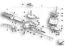 Goto diagram: BMW Classic Motorbike Model R 80, R 80 /7( ECE ), Category 32.10 Handle unit, right :: Diagram: 32_0747