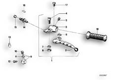 Goto diagram: BMW Classic Motorbike Model R75/5( ECE ), Category 32.10 HANDLE UNIT LEFT :: Diagram: 32_0750