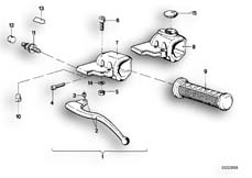 Goto diagram: BMW Classic Motorbike Model R 100 S( ECE ), Category 32.10 HANDLE UNIT LEFT :: Diagram: 32_0751
