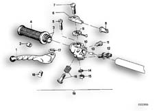Goto diagram: BMW Classic Motorbike Model R75/5( ECE ), Category 32.10 Handle unit, right :: Diagram: 32_0752