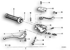 Goto diagram: BMW Classic Motorbike Model R 100 S( ECE ), Category 32.10 Handle unit, right :: Diagram: 32_0755