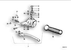 Goto diagram: BMW Classic Motorbike Model R 100 RS( ECE ), Category 32.10 HANDLE UNIT LEFT :: Diagram: 32_0759