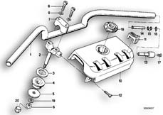 Goto diagram: BMW Classic Motorbike Model K 100 RS 83 (0502,0503,0513)( ECE ), Category 32.05 Handlebar :: Diagram: 32_0762