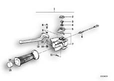 Goto diagram: BMW Classic Motorrad Modell R 80 R 91( ECE ), Category 32.10 HANDLE UNIT LEFT :: Diagram: 32_0763
