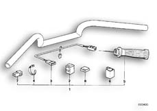 Goto diagram: BMW Classic Motorrad Modell R 100 RS( USA ), Category 32.15 Retrofit kit, heated handle :: Diagram: 32_0776