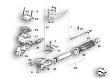 Goto diagram: BMW Classic Motorbike Model K 100 RS 83 (0502,0503,0513)( ECE ), Category 32.10 Handle unit, right :: Diagram: 32_0779
