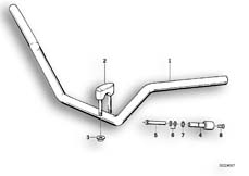 Goto diagram: BMW Classic Motorbike Model R 100 R Mystik 94( USA ), Category 32.05 Handlebar :: Diagram: 32_0782