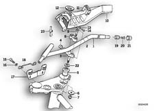 Goto diagram: BMW Classic Motorbike Model K 1100 LT (0526, 0536)( ECE ), Category 32.71 Handlebar :: Diagram: 32_0783