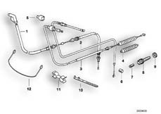 Goto diagram: BMW Classic Motorbike Model R 1100 GS 94 (0404,0409)( USA ), Category 32.73 Bowden cable :: Diagram: 32_0790