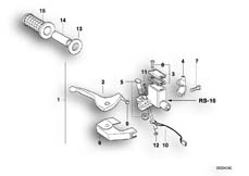 Goto diagram: BMW Classic Motorbike Model F 650 ST 97 (0163,0168)( USA ), Category 32.72 Handbrake control assembly :: Diagram: 32_0798