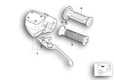Goto diagram: BMW Classic Motorbike Model K 1200 GT 01 (0548,0558)( USA ), Category 32.72 Clutch control assembly :: Diagram: 32_0814
