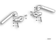 Goto diagram: BMW Classic Motorbike Model K 1200 GT 01 (0548,0558)( USA ), Category 32.71 Adjustable handle bar :: Diagram: 32_0816