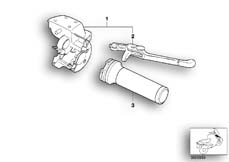 Goto diagram: BMW Classic Motorbike Model R 1200 C Indep. 00 (0405,0433)( ECE ), Category 32.72 Handbrake control assembly :: Diagram: 32_0934