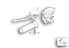 Goto diagram: BMW Classic Motorbike Model R 1200 C Indep. 03 (0362,0391)( USA ), Category 32.72 Clutch control assembly :: Diagram: 32_0935