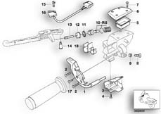 Goto diagram: BMW Classic Motorbike Model R 1150 GS Adv. 01 (0441,0492)( USA ), Category 32.72 Single parts, clutch lever :: Diagram: 32_0953