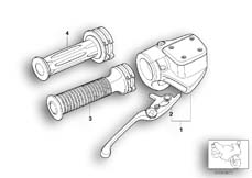 Goto diagram: BMW Classic Motorbike Model R 1150 GS Adv. 01 (0441,0492)( USA ), Category 32.72 Handbrake control assembly :: Diagram: 32_0955