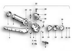 Goto diagram: BMW Classic Motorbike Model R69 S( ECE ), Category 32.10 Handle unit, right :: Diagram: 32_1084