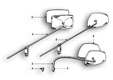 Goto diagram: BMW Classic Motorbike Model R69 S( ECE ), Category 32.25 Mirror :: Diagram: 32_1087