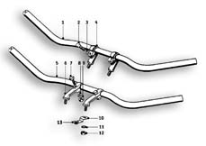 Goto diagram: BMW Classic Motorbike Model R51/2( ECE ), Category 32.05 Handlebar :: Diagram: 32_1095