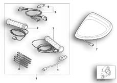 Goto diagram: BMW Classic Motorrad Modell C1 (0191)( ECE ), Category 32.71 Heater package :: Diagram: 32_1237