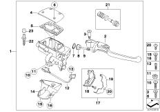 Goto diagram: BMW Classic Motorbike Model K 1200 GT 01 (0548,0558)( USA ), Category 32.72 Handbrake control assembly :: Diagram: 32_1746