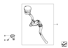 Goto diagram: BMW Classic Motorrad Modell HP4 (0D01, 0D11)( ECE ), Category 32.72 Handbrake control assembly :: Diagram: 32_1844
