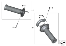 Goto diagram: BMW Classic Motorrad Modell R nineT Pure (0J11, 0J13)( USA ), Category 32.71 Handlebar grips :: Diagram: 32_1846