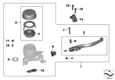 Goto diagram: BMW Classic Motorbike Model R 1200 R 06 (0378,0398)( USA ), Category 32.72 Handbrake control assembly :: Diagram: 32_1892