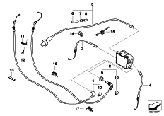 Goto diagram: BMW Classic Motorbike Model R 1200 RT 10 (0430,0440)( USA ), Category 32.73 bowden cables :: Diagram: 32_1940