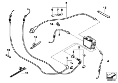 Goto diagram: BMW Classic Motorbike Model R 900 RT 05 SF (0367,0387)( ECE ), Category 32.73 bowden cables :: Diagram: 32_1944