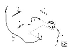 Goto diagram: BMW Classic Motorbike Model R 900 RT 05 SF (0367,0387)( ECE ), Category 32.73 bowden cables :: Diagram: 32_1945