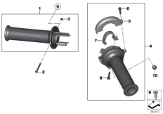Goto diagram: BMW Classic Motorrad Modell R 1200 S (0366,0396)( ECE ), Category 32.71 Handlebar grips unheated :: Diagram: 32_1978
