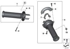 Goto diagram: BMW Classic Motorrad Modell R 1200 S (0366,0396)( ECE ), Category 32.71 Handlebar grip, heated :: Diagram: 32_1982