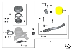 Goto diagram: BMW Classic Motorbike Model R 1200 GS Adve. 10 (0470,0480)( ECE ), Category 32.72 Handbrake fitting, handlebar locking M5 :: Diagram: 32_2004