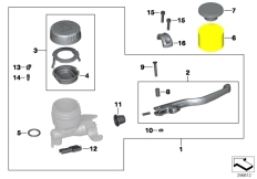 Goto diagram: BMW Classic Motorrad Modell K 1300 GT (0538,0539)( USA ), Category 32.72 Handbrake fitting, handlebar locking M5 :: Diagram: 32_2006