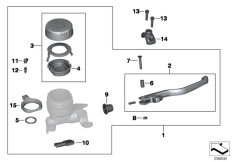 Goto diagram: BMW Classic Motorrad Modell R 1200 GS Adve. 08 (0380,0390)( USA ), Category 32.72 Handbrake control assembly :: Diagram: 32_2007