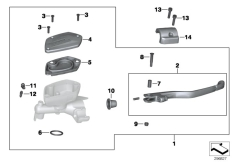 Goto diagram: BMW Classic Motorrad Modell K 1600 GTL (0602, 0612)( ECE ), Category 32.72 Handbrake fitting, handlebar locking M5 :: Diagram: 32_2011