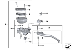 Goto diagram: BMW Classic Motorbike Model R 1200 RT 10 (0430,0440)( USA ), Category 32.72 Clutch control assembly :: Diagram: 32_2038