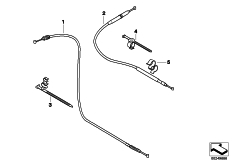 Goto diagram: BMW Classic Motorrad Modell G 650 GS Sertão (0136, 0146)( ECE ), Category 32.73 Bowden cables :: Diagram: 32_2040