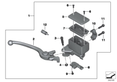 Goto diagram: BMW Classic Motorrad Modell C 650 Sport 16 (0C04, 0C14)( USA ), Category 32.72 Handbrake lever, front wheel :: Diagram: 32_2097